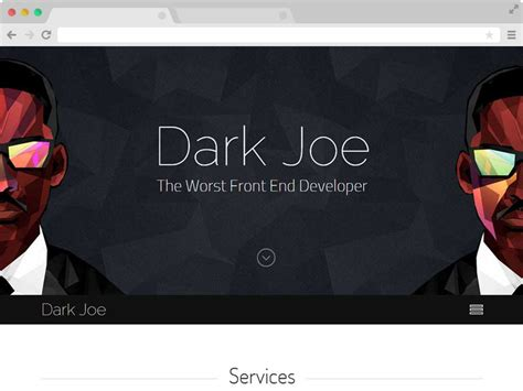 Dark Joe Responsive One Page Personal Website Template Programmer Personal Website Template