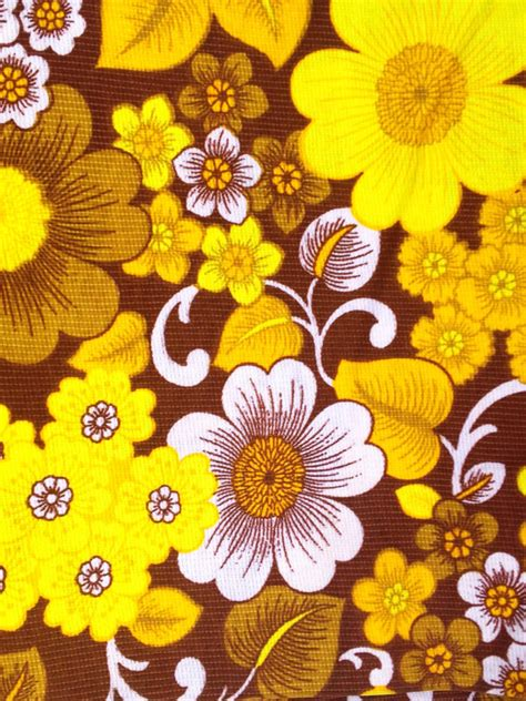 70s fabric 70s retro mod vintage fabric in yellow and orange by inspiria