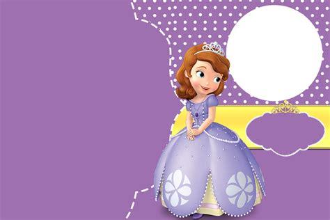 sofia the free invitation templates bellas invitaciones de princesa sof 237 a para imprimir gratis