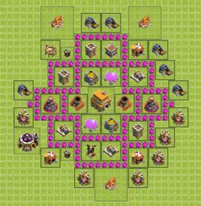 coc strong base structures for lvl6 townhall clash of clans base building tips for beginners coc land