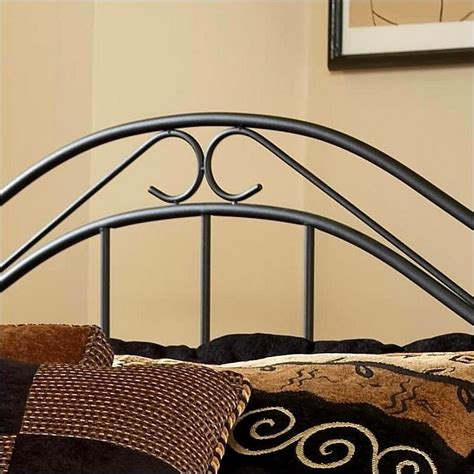 Black Metal Headboard by Hillsdale Winsloh Metal Black Finish Headboard