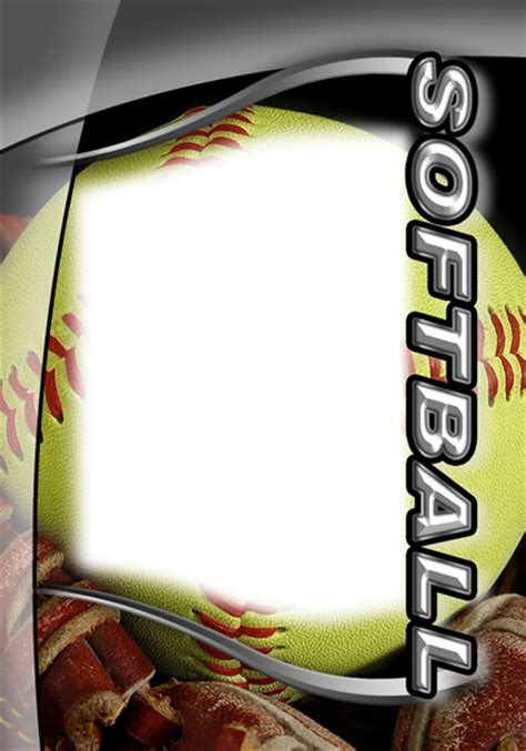 softball design templates softball photo templates
