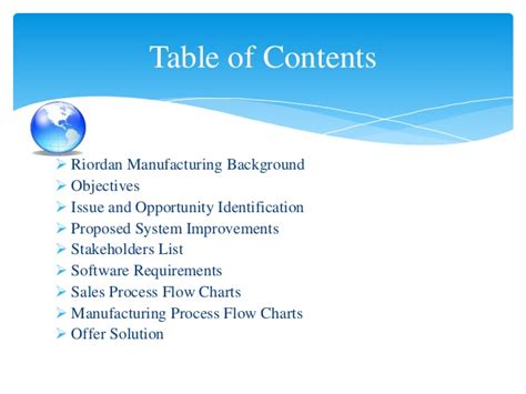process design for riordan manufacturing systems development project riordan manufacturing final draft