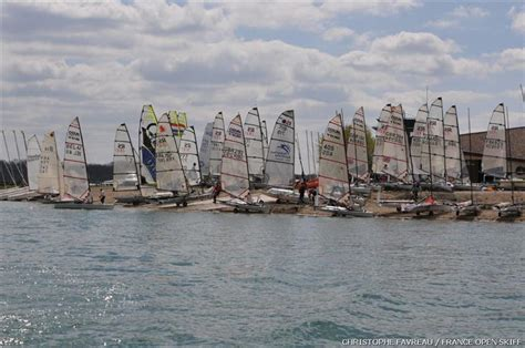 skiff events france open skiff event at lac du der stage 1 of