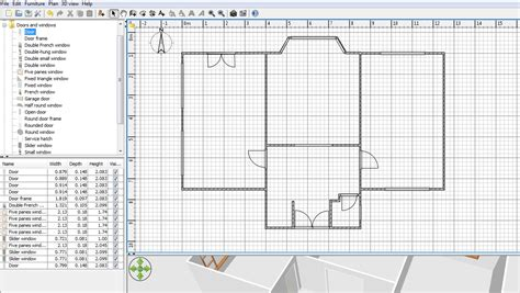 free floor plan maker with 3d home plans rectangular room free floor plan software sweethome3d review