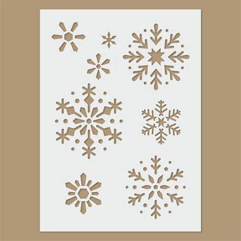 plantilla copos navidad copo de nieve navidad invierno plantilla navidad