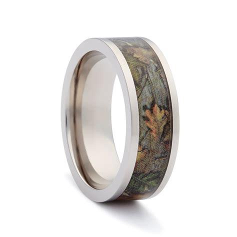 Wedding Bands Camo by Camo Wedding Band Flat Titanium 2 Camo Wedding Ring