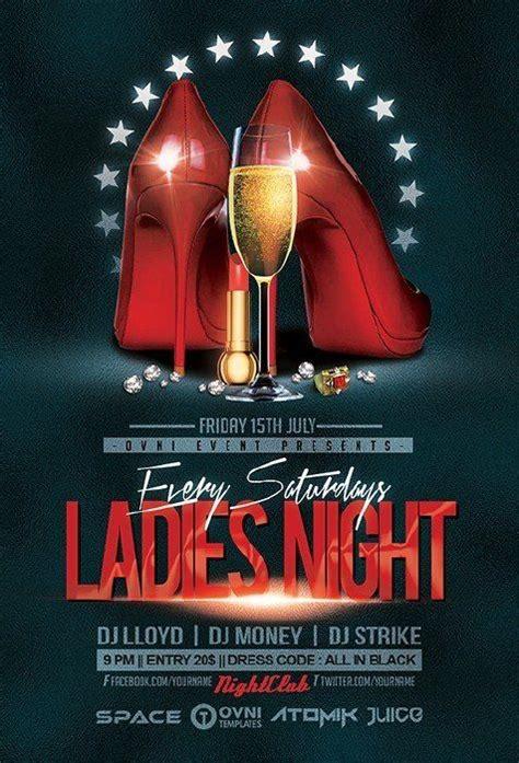 Ladies Night Flyers Designs