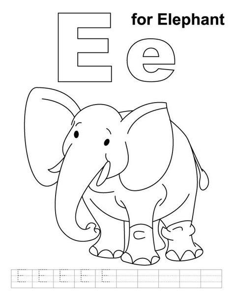 ellie elephant zoo phonics az coloring pages