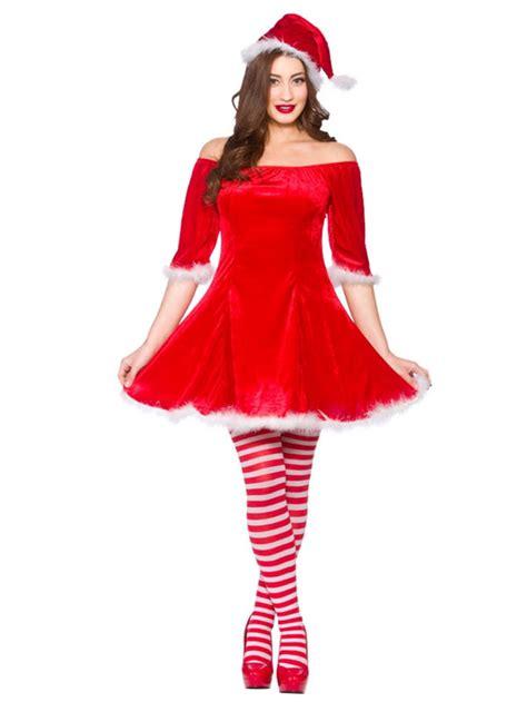 adult ladies sexy sweet miss santa claus christmas fancy