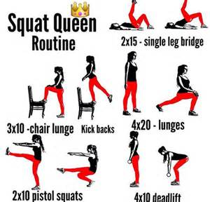 squat routine healthy fitness legs workout