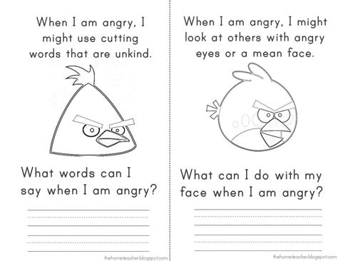 angry birds anger management worksheets 16 images of self control coloring pages of anger anger