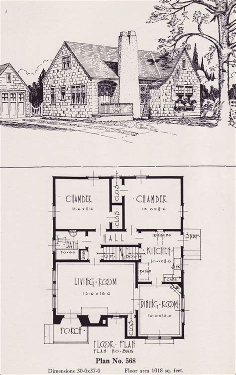english cottage house plans 1926 portland homes universal plan services no 568 architectural drawings