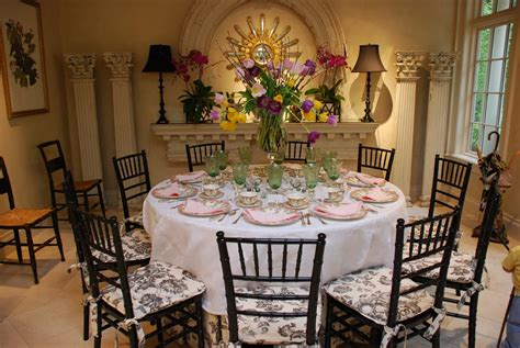 stunning round table setting lovely table decorating ideas for the upcoming easter