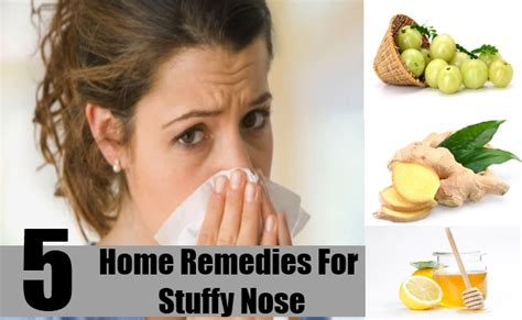 5 best home remedies for stuffy nose treatments