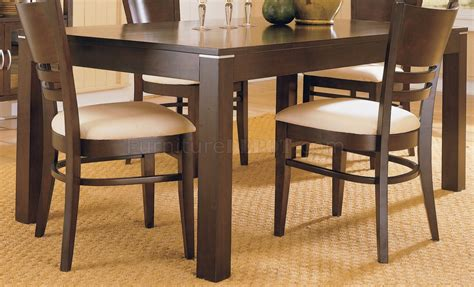 espresso dining room table espresso casual dining room set 628
