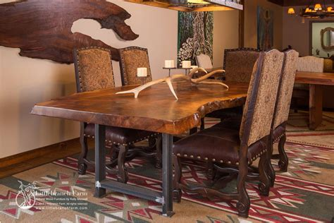 rustic metal and wood dining table rustic dining table live edge wood slabs littlebranch farm
