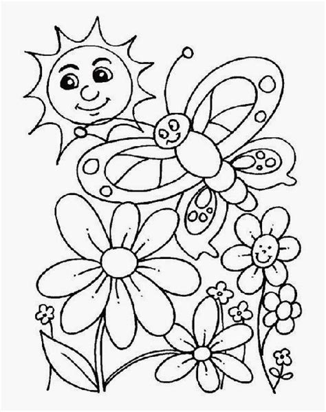 spring coloring pages free coloring sheet