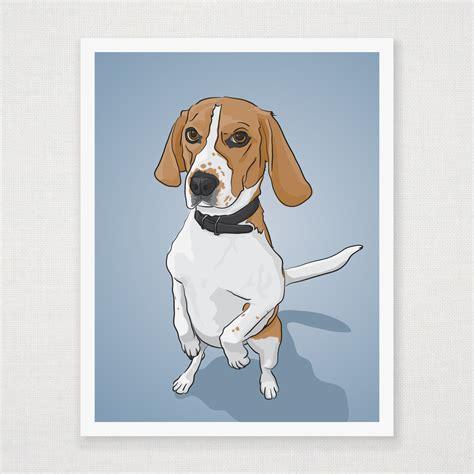 Poster Sunnah Poster Panel Poster Frame Borderless 11 standing beagle print