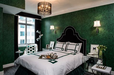 emerald green bedroom malachite wallpare brings emerald green to the