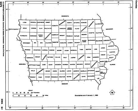 printable map iowa iowa free map