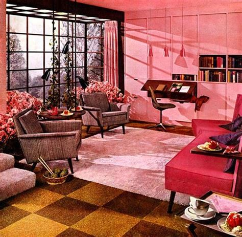 Pink Living Room Accessories by Retro Pink Living Room Decor Indoor