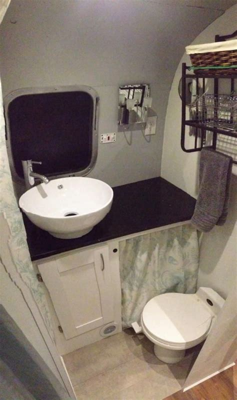 smallest rv with bathroom nice bathroom redo the silver bullet pinterest