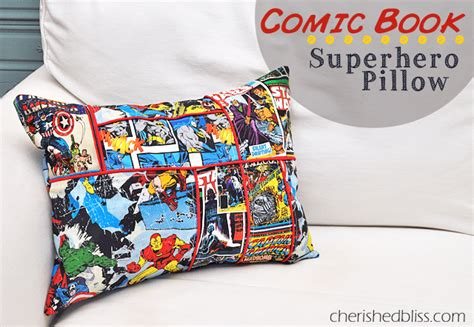 How To Make A Book Pillow by Comic Book Style Pillow Cherished Bliss