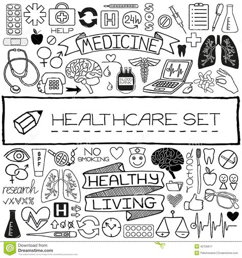 doodle how to make tools set of icons stock vector image 42135611