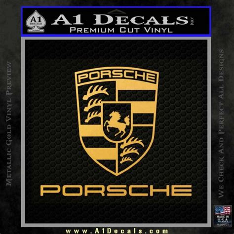 Porsche Logo Aufkleber by Porsche Decal Sticker Full Emblem Logo 187 A1 Decals