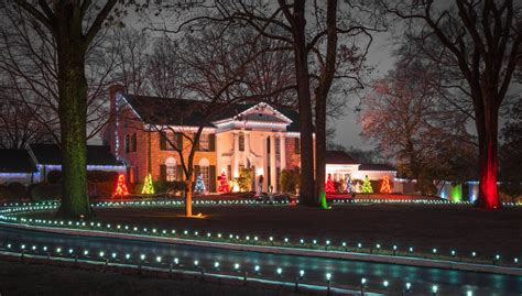 christmas lights memphis tn christmas at graceland in memphis tn tennessee vacation