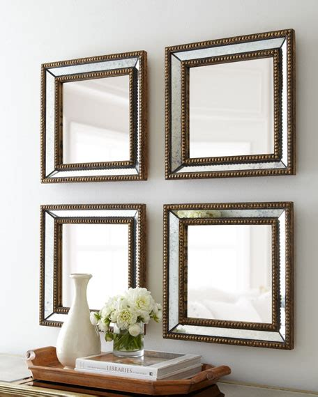 silver squares framed mirror 32x66 in living room two norlina square wall mirrors