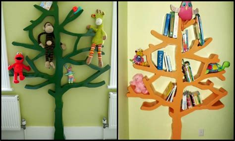 build your own tree shaped bookshelf