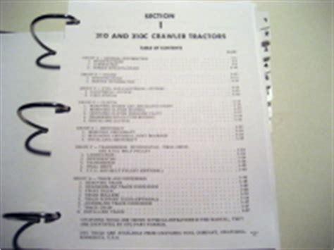 Case Service Manuals Case Utility Tractors 210b 310
