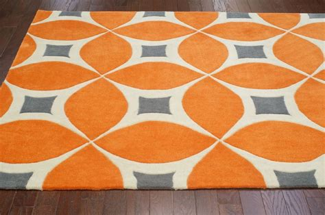 orange floor rugs contemporary orange sunflower trellis bc55 area rug carpet tufted polyester