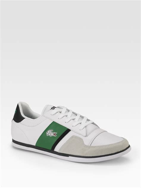 lacoste sneakers lacoste retro leather sneakers in white for lyst