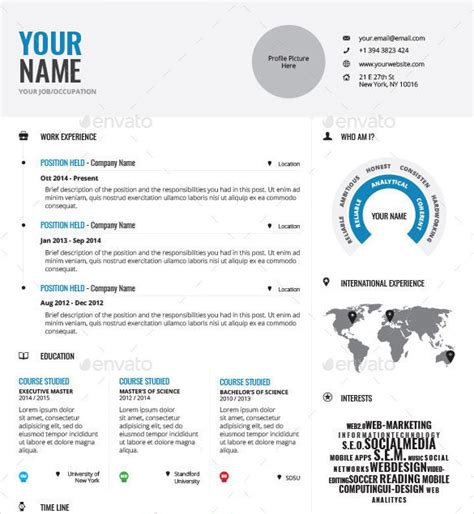 Infographic Resume App professionally designed infographic resume template indd