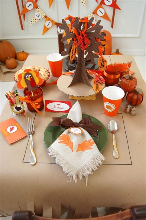 homemade thanksgiving decorations for the home 30 fun thanksgiving kids table ideas happiness is homemade