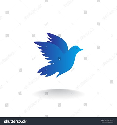 blue bird template silhouette blue bird logo template vector illustration
