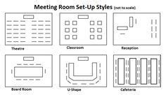 meeting room layout calculator meeting room setup styles google search banquet room