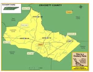 map crockett crockett county tennessee century farms