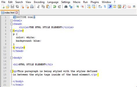 html font color tag style element html web development tutorial series part 14