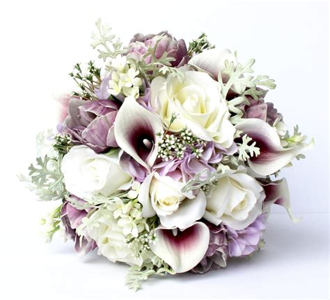 Real Bridal Bouquets by Purple Wedding Bouquet Purple Wedding Bridal Bouquet Real
