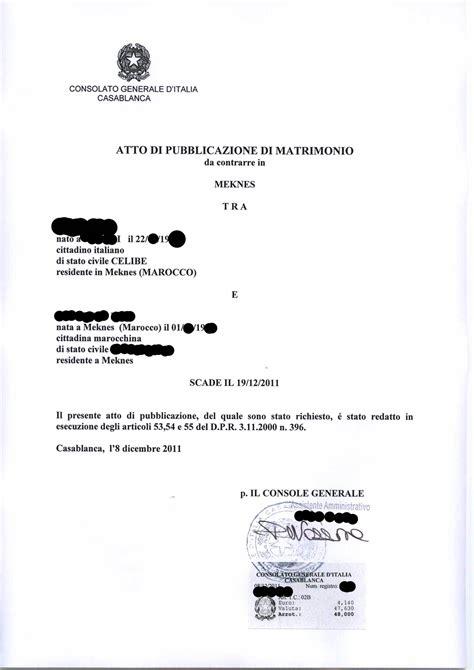 matrimonio consolare il matrimonio misto italia marocco procedura completa