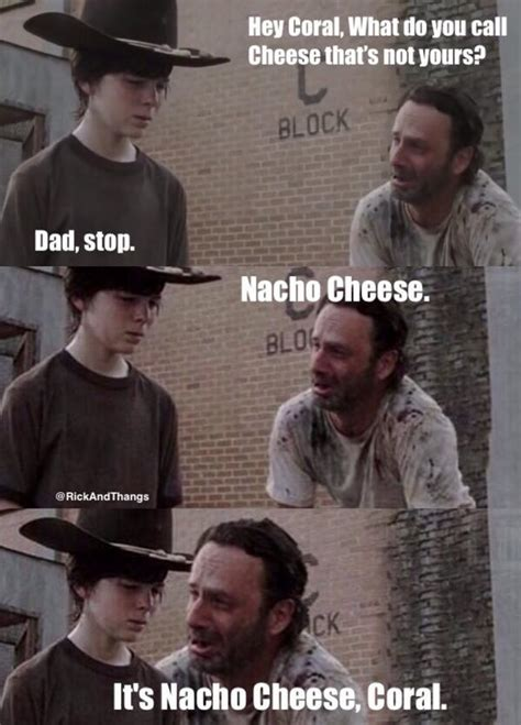Rick Grimes Crying Meme - crazy nacho cheese joke