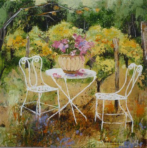table blanche jardin les fleurs