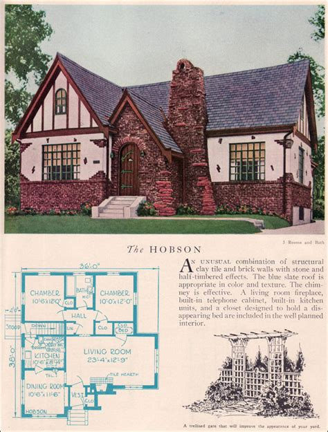 English Stone Cottage House Plans the 1929 hobson eclectic english revival home builders