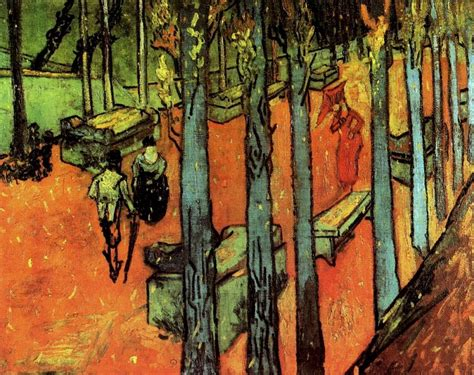 Letter Of Intent Oise falling autumn leaves 1888 by vincent gogh