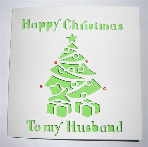 personalised laser cut christmas tree card by sweet pea
