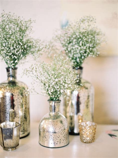 wedding centerpieces vases diy mercury glass centerpiece vases for your rustic chic wedding wedding by wedpics